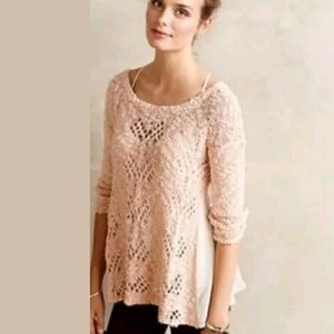 Anthropologie Knitted & Knotted Sylt Sweater XL